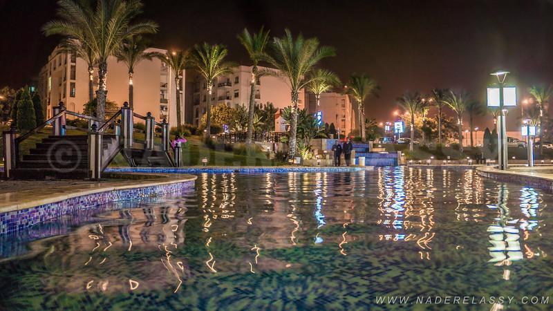 Rehab City at night
