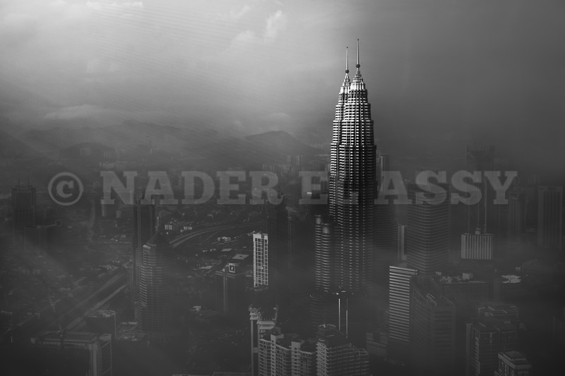Petronas Towers in a Foggy Afternoon