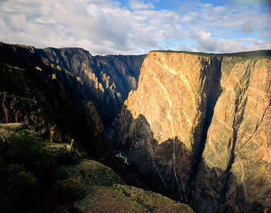 Nobody, North America, USA, Colorado, Black Canyon of the Gunnison National Monument on the Gunnison River from near East Portal
