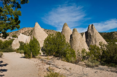 Nobody. North America, USA, New Mexico, Tent Rocks National Monument, Cave Springs Trail ,Tent Like Pinacles of beige, white and pink