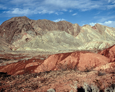 Nobody,North America, USA, Lake Mead N.R.A., Nevada, Multicolored Patchwork Hills