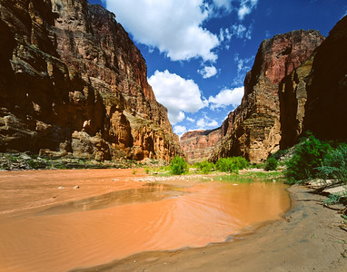 Nobody, North America, USA, Arizona, Grand Canyon National Park, view upriver from National Canyon