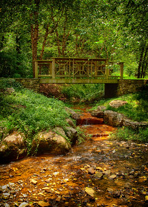 """Quiet Brook and Footbridge"""