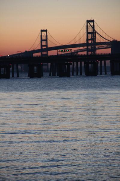 Sunrise at the Chesapeake Bay Bridge
