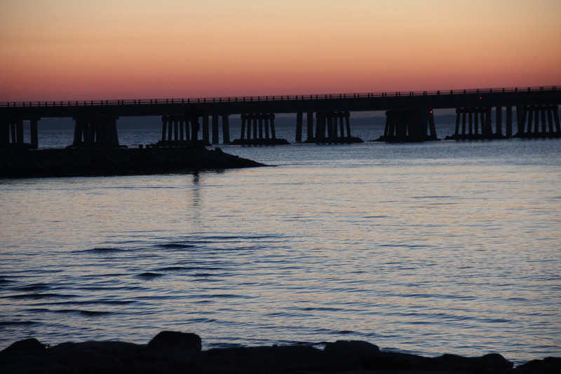 Sunrise at the Chesapeake Bay Bridge