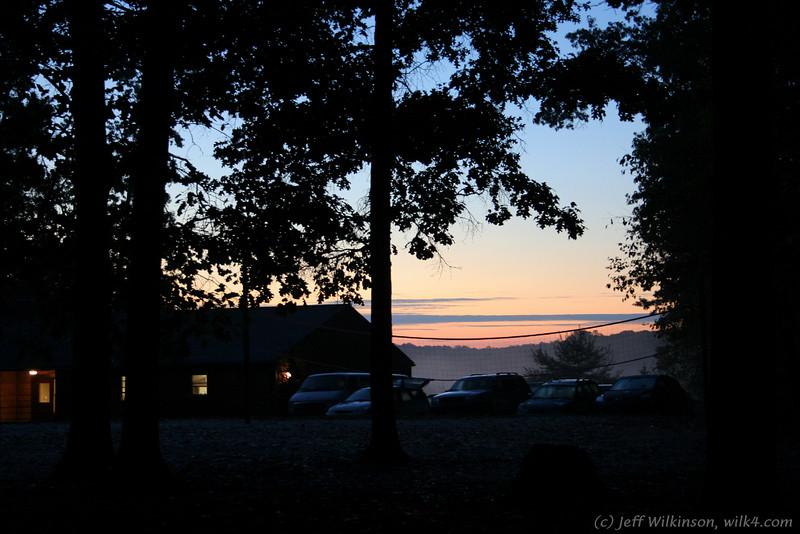 #2870 sunrise at Broadcreek boy scout camp