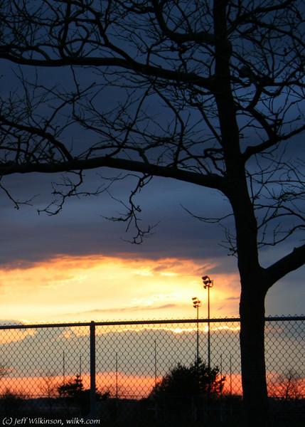 #9446, sunset, crop c, 5x7v