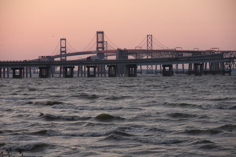 #8488, Sunrise over the Chesapeake Bay Bridge