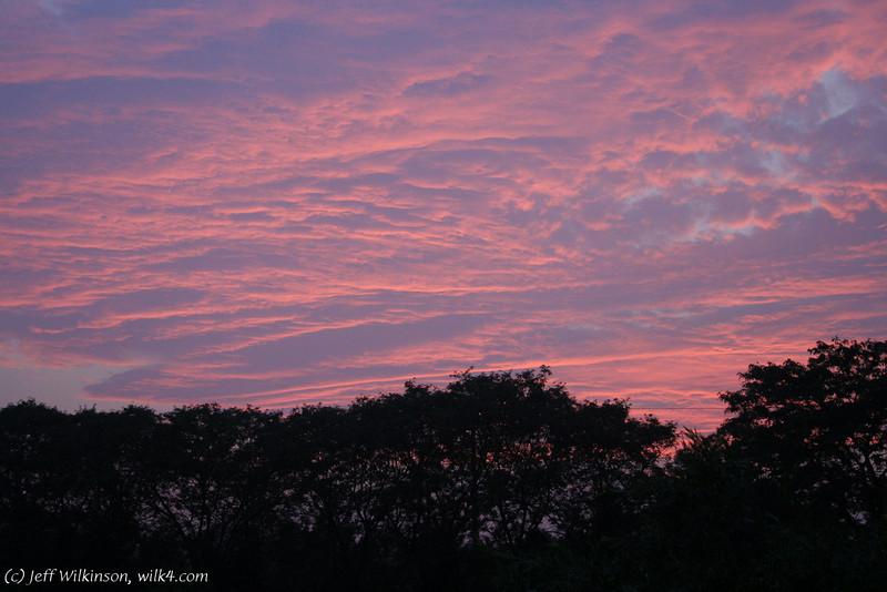 #5695 sunset over Vanderkruk's pond