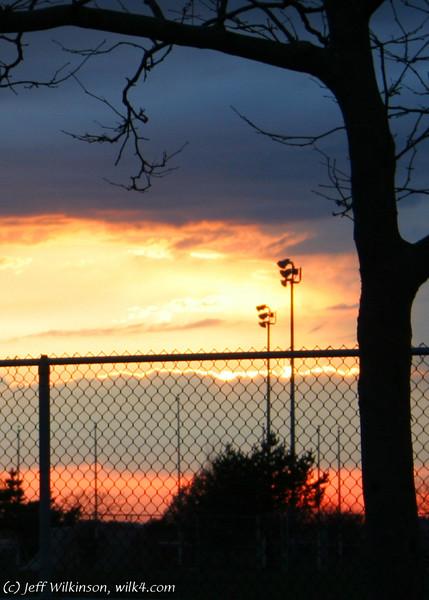 #9446, sunset, crop b, 5x7v