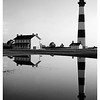 Bodie Island Lighthouse, Outerbanks, NC b/w