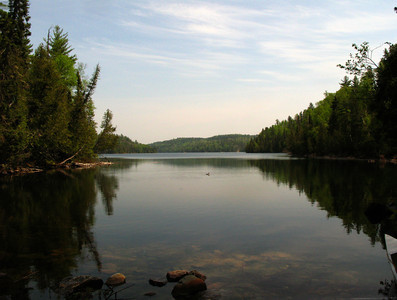 Canoe Country Scenery, Lake Agnes, Quetico Provincial, Canada