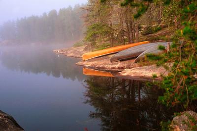 Foggy Canoe Campsite, Lake Kawnipi, BWCAW-Quetico