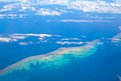 Aerial Vews of  Great Barrier Reef Segments