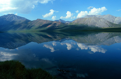 Brooks Range Reflected in Schrader Lake, Alaska