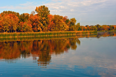 Fall on Roger's Lake, Mendota Heights, Minnesota