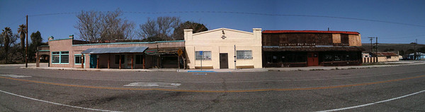Downtown Jacumba. Crumbling relic of the southwest.  This is an Iphone 3s panorama of about 3 photos.