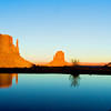 Evening Reflections, the Mittens and Merrick Butte, Monument Valley