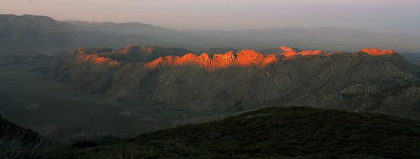 Sunset over the Anza-Borrego