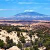 North America, USA, Utah, Navajo Mountain predominating the Landscape