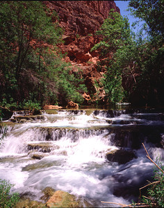 Beaver Falls of Havasu Creek the Grand Canyon