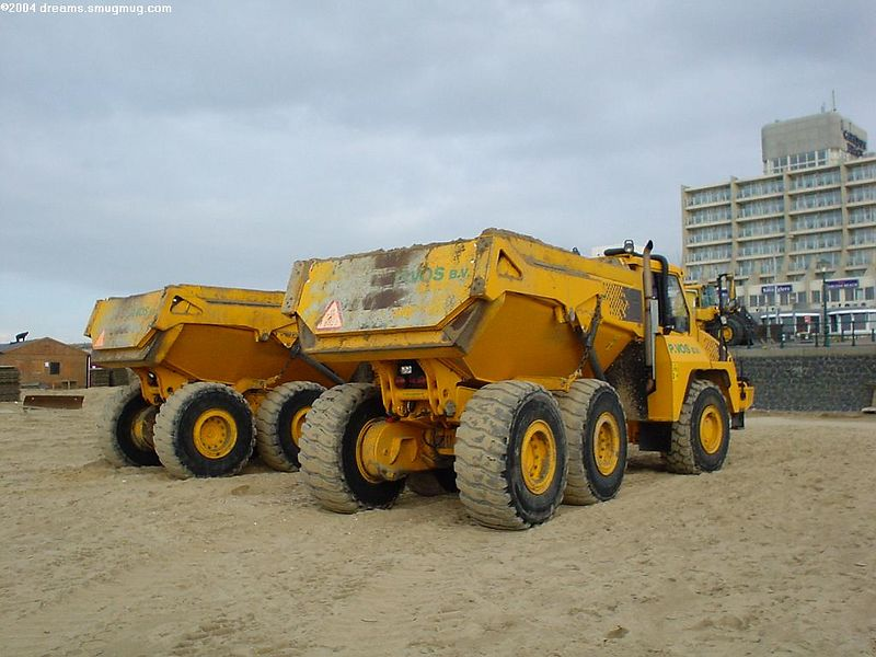 shovels are used to push the sand back and even the beach out