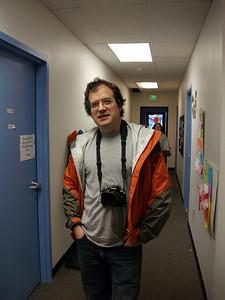 John Krumm teaches the photography exploratory. Photo by Indigo.