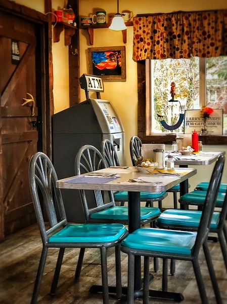 roadside cafe table
