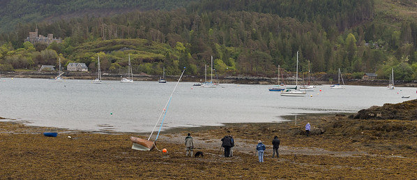 The town of Plockton Note: the tide was out.