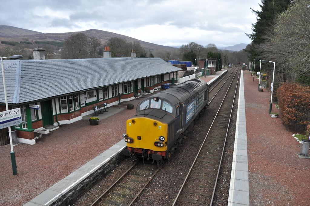 37059, Spean Bridge - running light engine to Fort William. 21/03/12.
