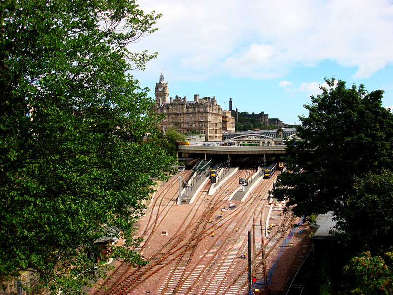 Train Tracks in Edinburgh Scotland