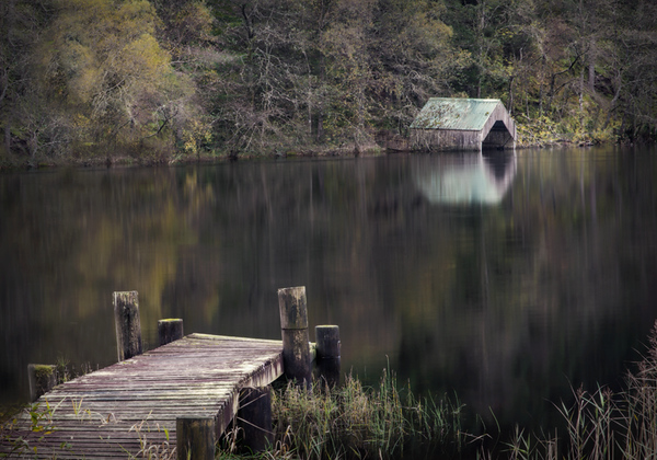 Boathouse and Dock - Loch Ard, Scotland