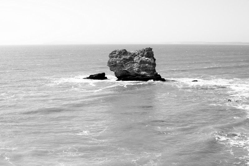 Solitary rock.