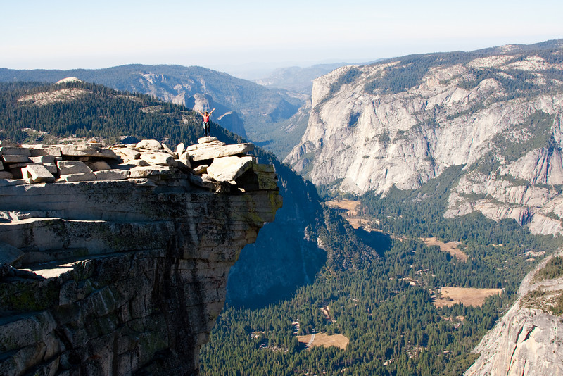 Diving Board, next to the top of Half Dome in Yosemite.