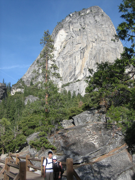 15 hours and a Half Dome later, almost back at the trailhead.