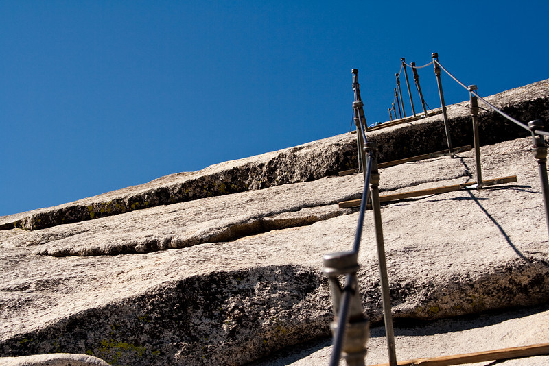 The way up to Half Dome.