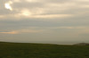 Downland near Beachy Head, Belle Tout lighthouse at right.<br /> Freezing cold and a gale of wind, February 2008.