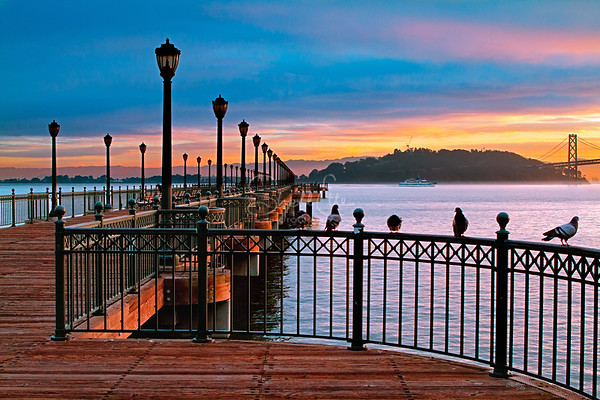 Ferry Pier Sunrise - San Francisco