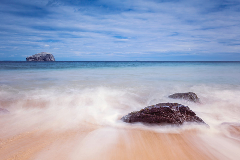 Seacliff Beach Overlooking The Bass Rock