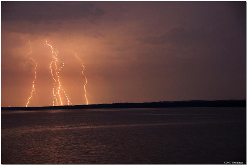 July 25<br /> Thunderstorm near Jordan Lake