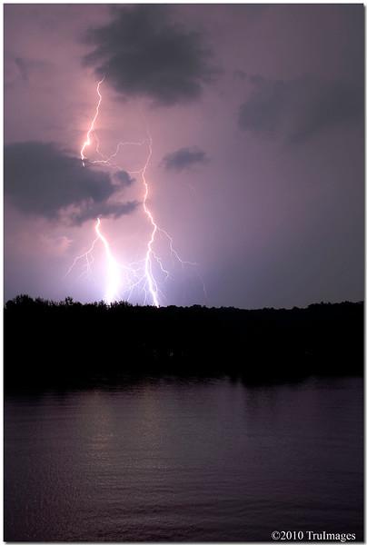 July 10<br /> Amazing light show from thunderstorm at Jordan Lake around midnight