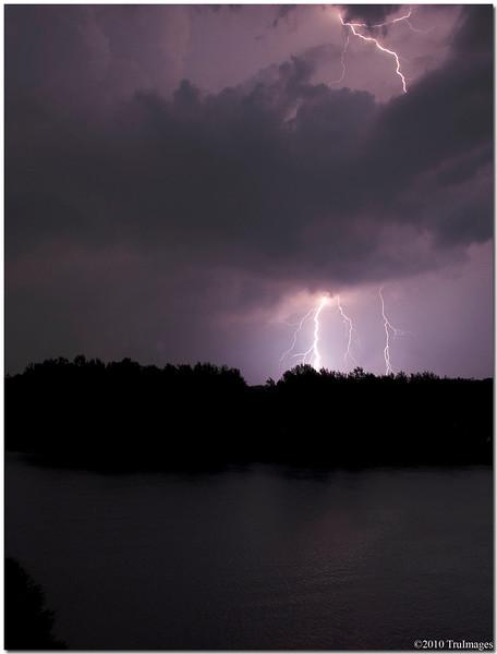 July 10<br /> Midnight thunderstorm at Jordan Lake