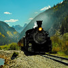 D&SNGRR northbound to Silverton CO. 9/16/12