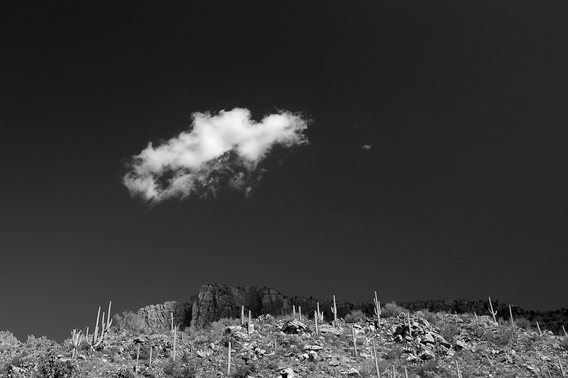 Cliffs and Clouds (B&W)
