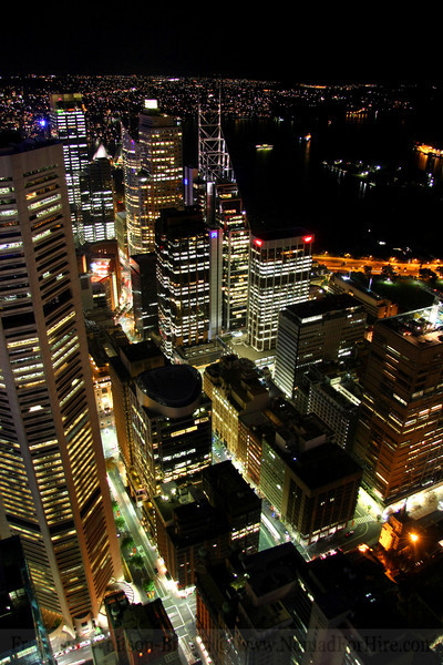 Nightscape Of The Great City Sydney, Australia.