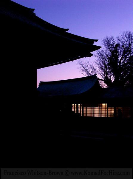 Japanese temple architecture. Near Tokyo, Japan.