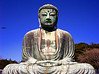 The Great Daibutsu Buddha of Kamakura. Bronze Cast in the year 1252 and more than 13.35 meters tall.<br /> Kamakura Japan.