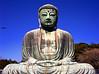 The Great Daibutsu Buddha of Kamakura. Bronze Cast in the year 1252 and more than 13.35 meters tall.<br /> Kamakura Japan.