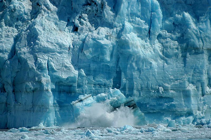Calving, Glacier Bay, Alaska.