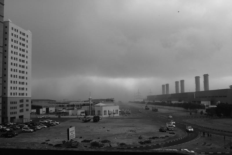 Ajman during storm - Jan 28, 2011